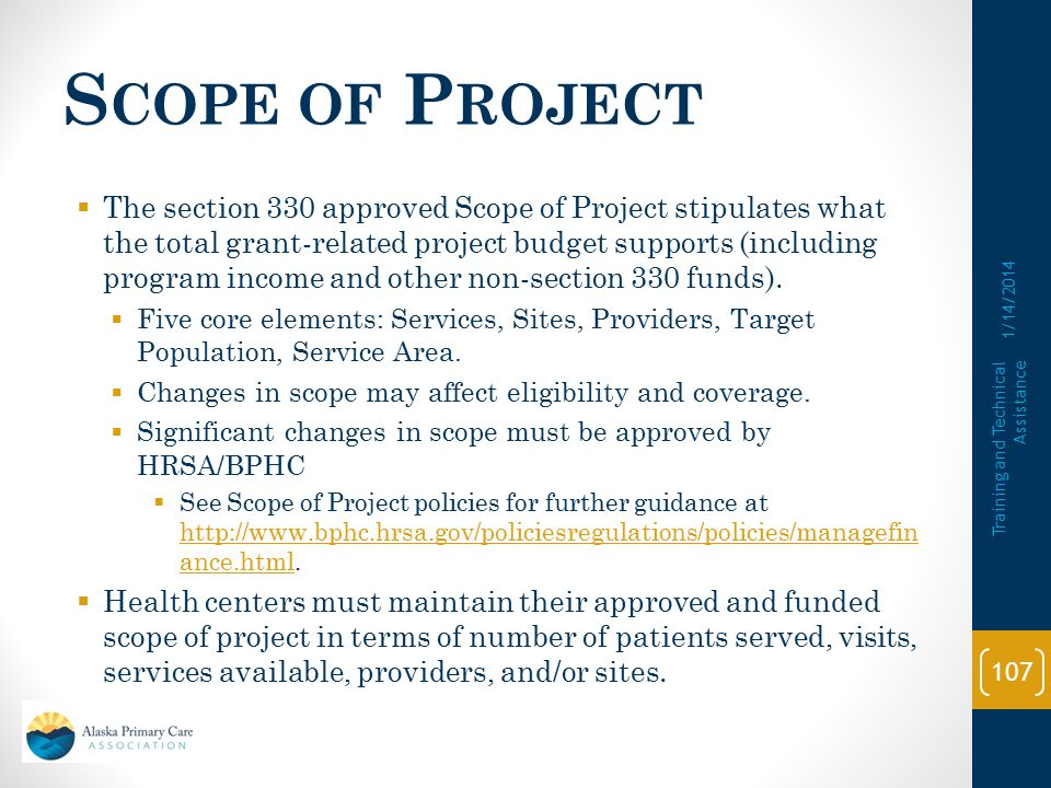 Scope of Project