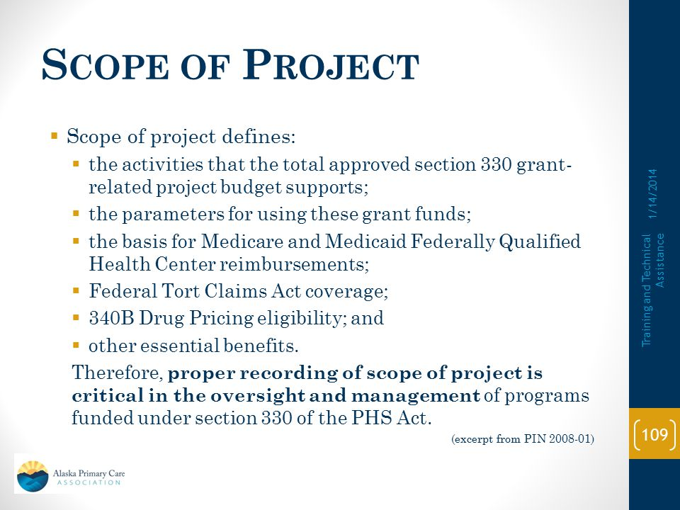 Scope of Project Scope of project defines: