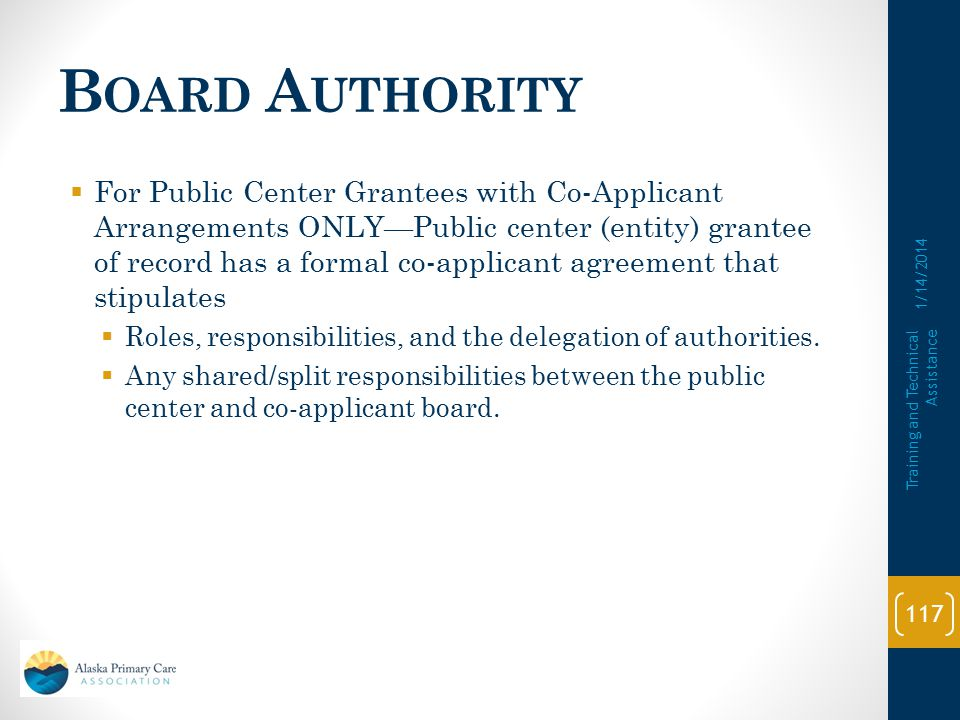 Board Authority