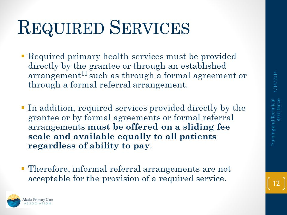 Required Services