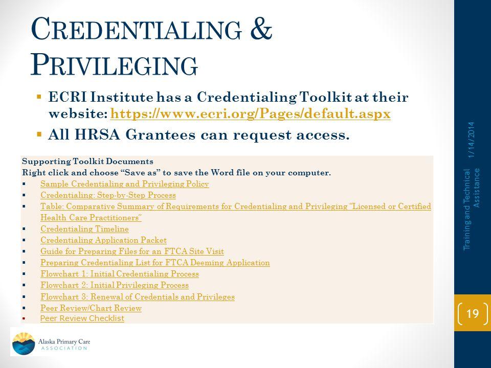 Credentialing & Privileging