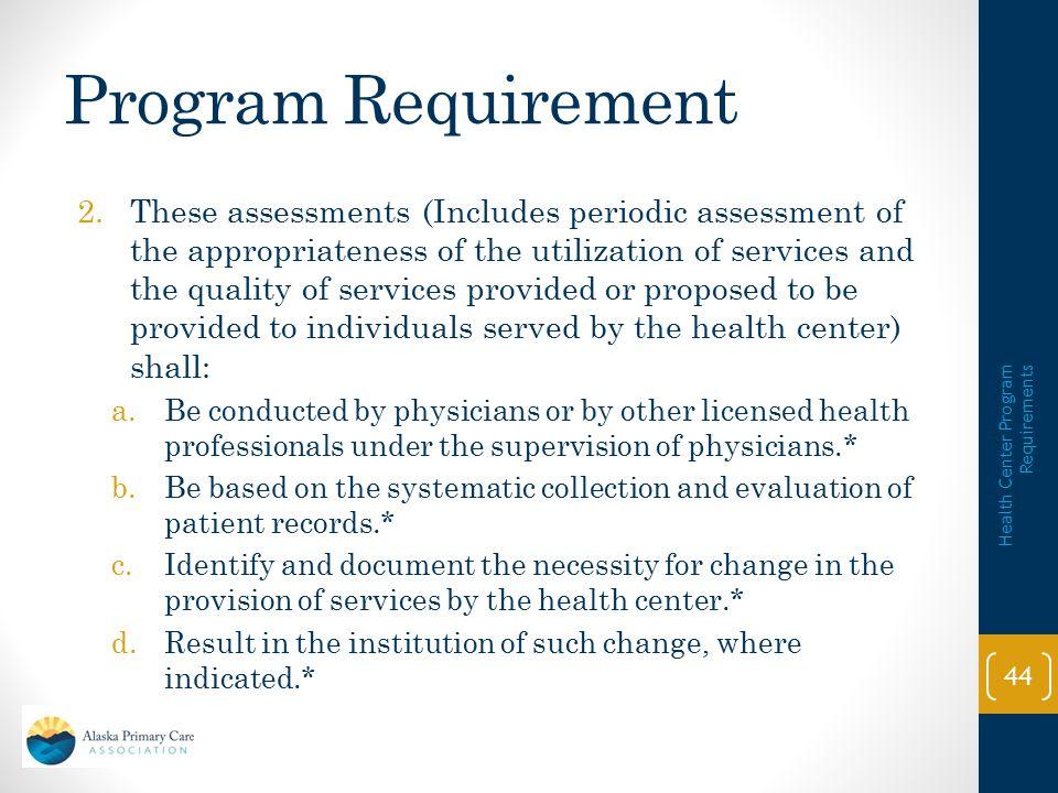Program Requirement