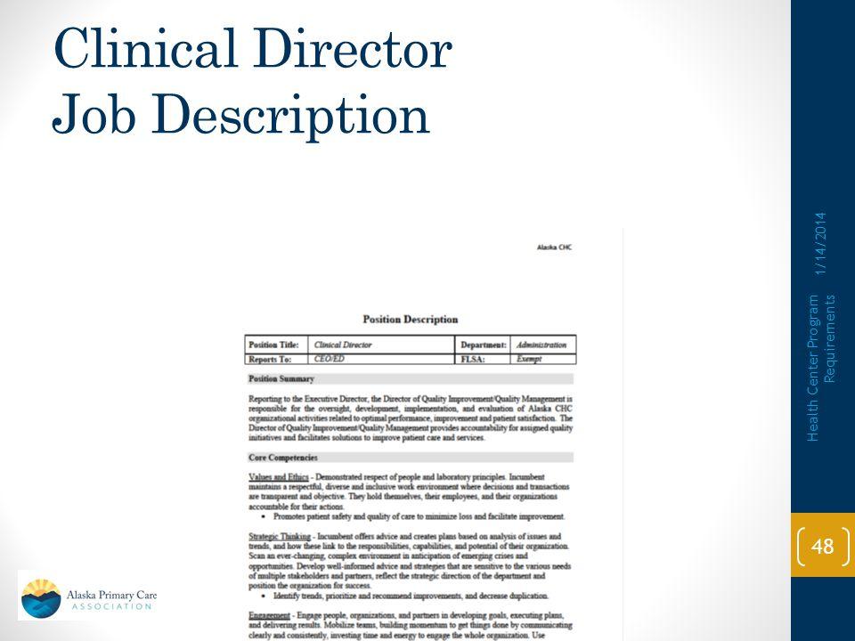 Clinical Director Job Description