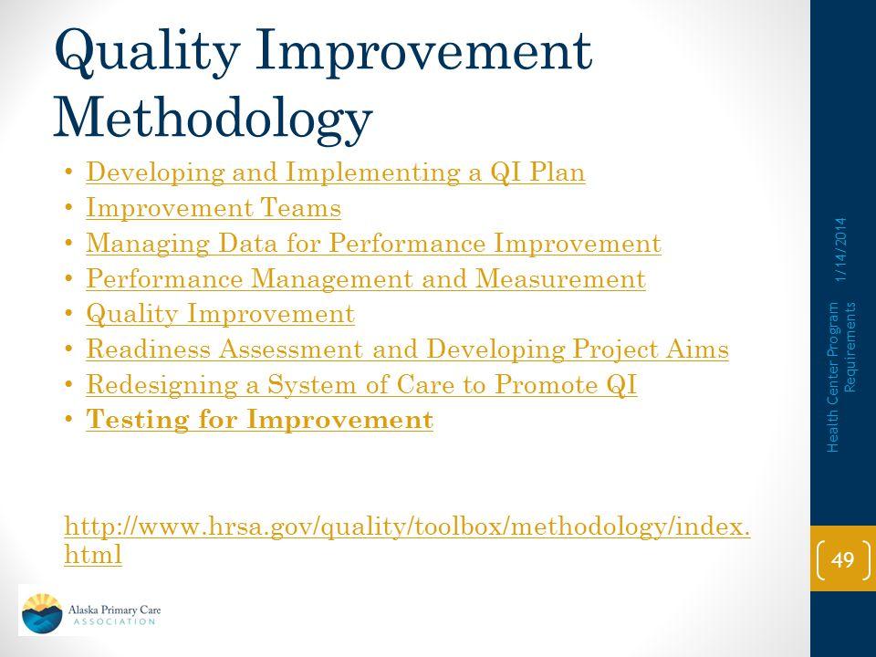 Quality Improvement Methodology
