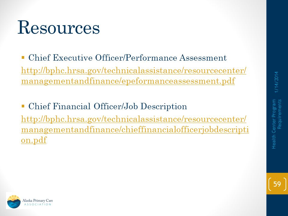 Resources Chief Executive Officer/Performance Assessment