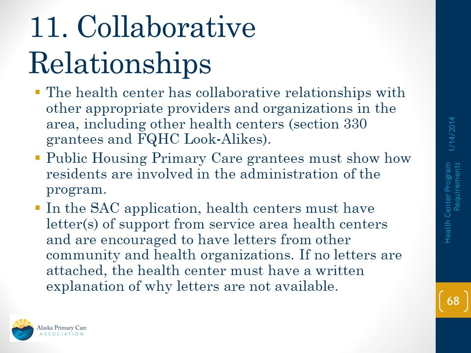 11. Collaborative Relationships