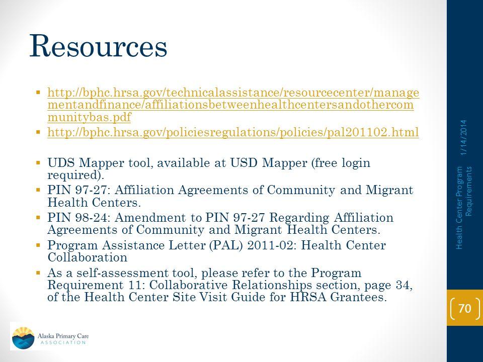 Resources http://bphc.hrsa.gov/technicalassistance/resourcecenter/managementandfinance/affiliationsbetweenhealthcentersandothercommunitybas.pdf.