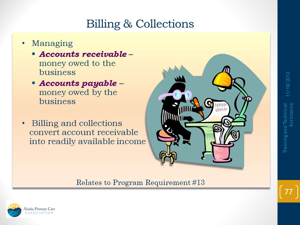 Relates to Program Requirement #13