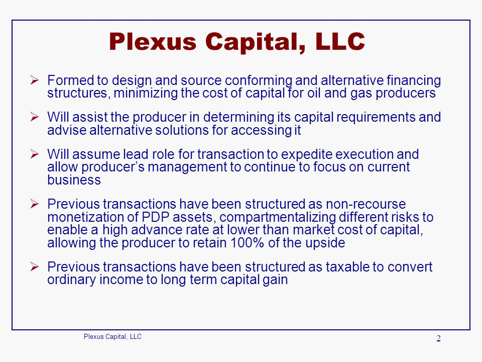 Plexus Capital, LLC