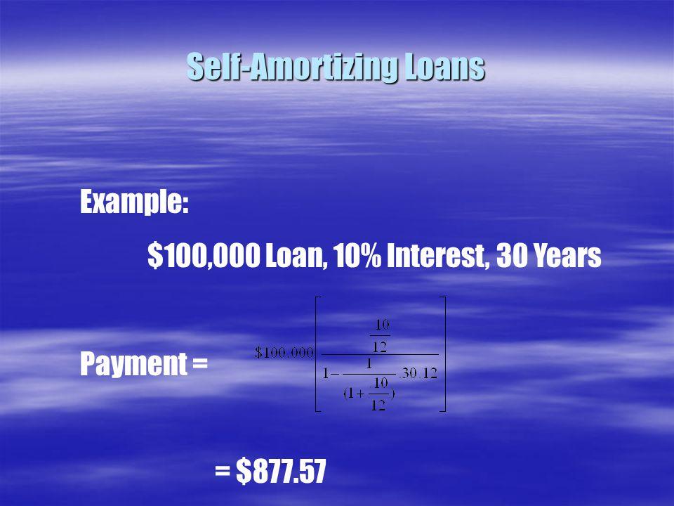Self-Amortizing Loans
