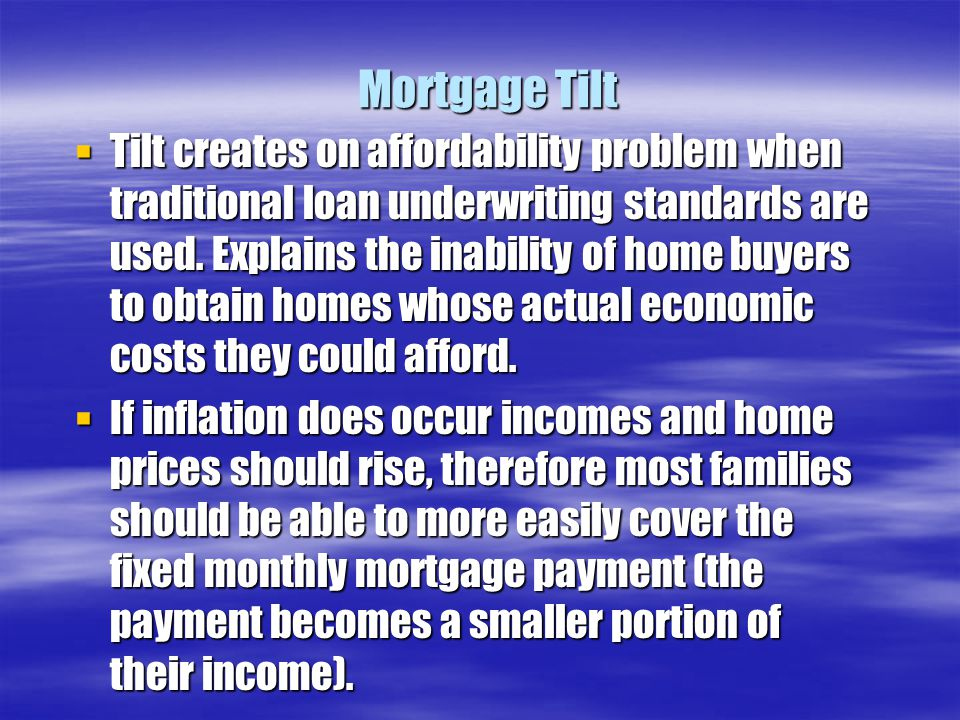 Mortgage Tilt