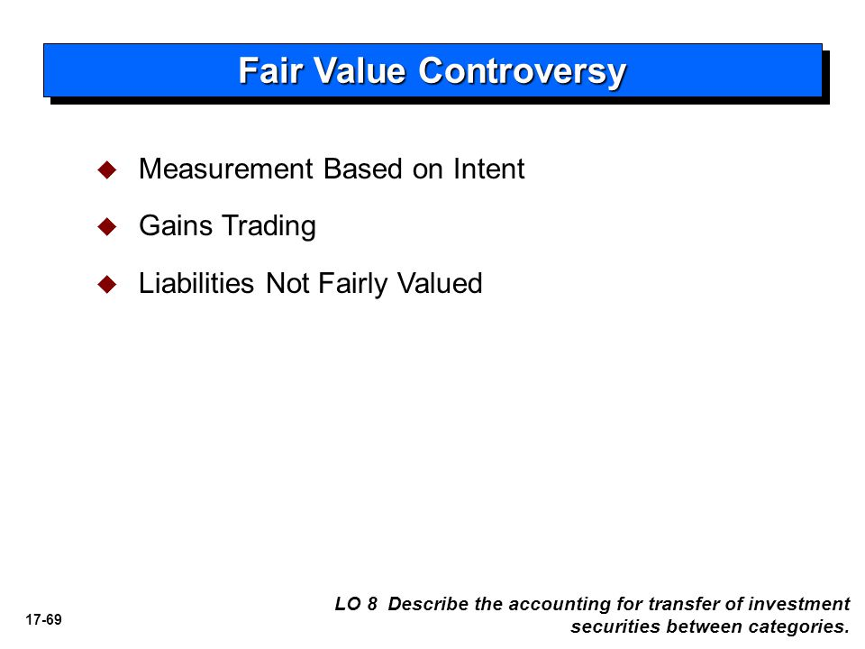 Fair Value Controversy