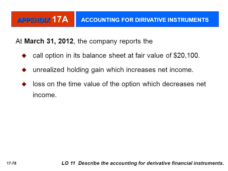 At March 31, 2012, the company reports the