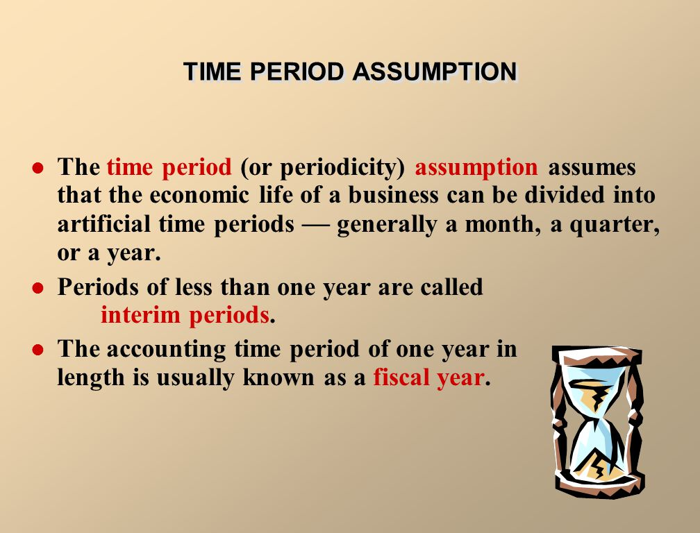 TIME PERIOD ASSUMPTION