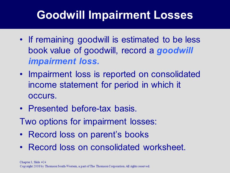 Goodwill Impairment Losses