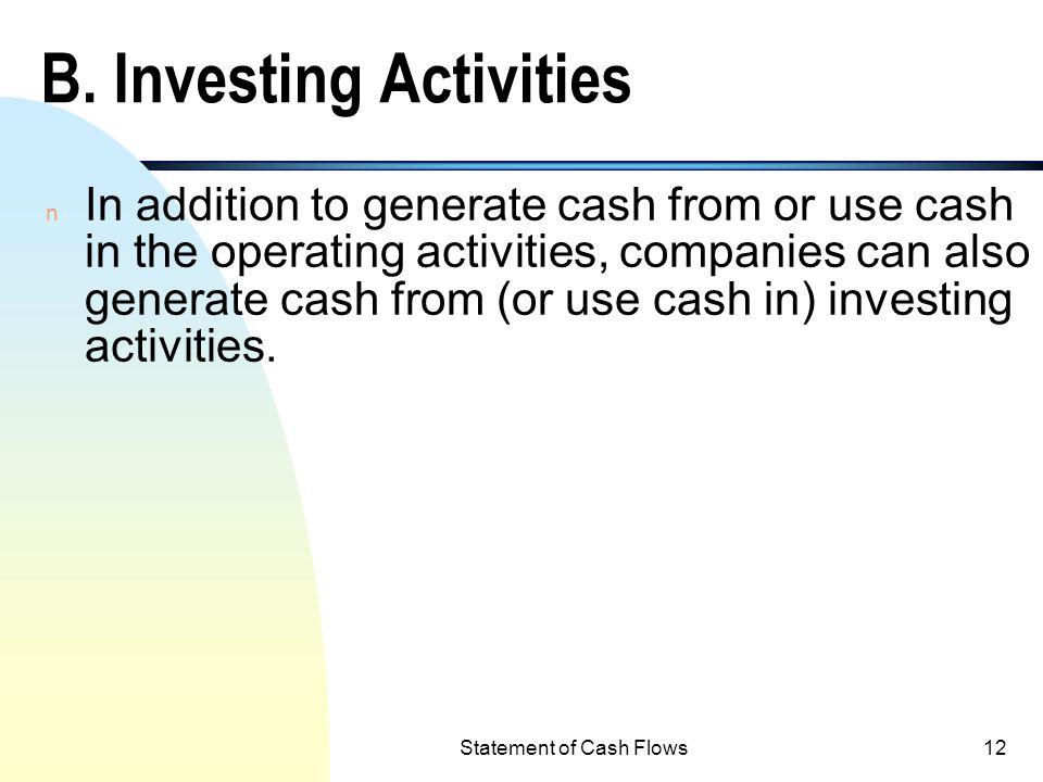 B. Investing Activities
