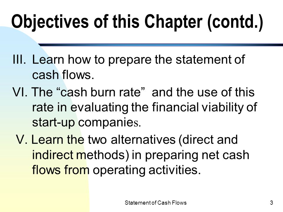 objectives of cash flow statement pdf