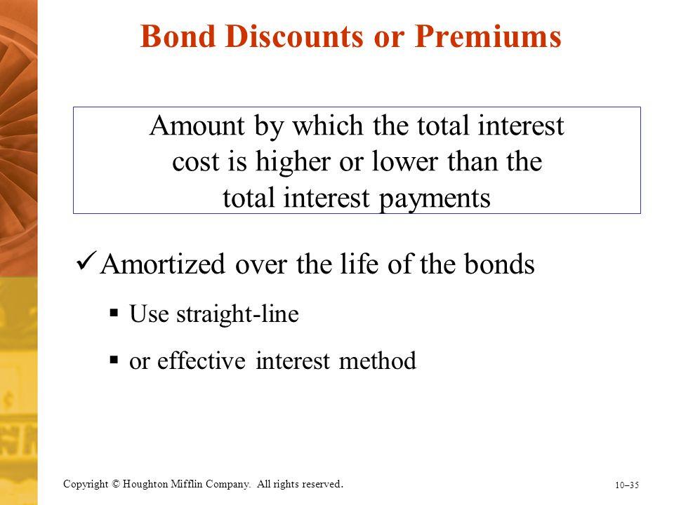 Bond Discounts or Premiums