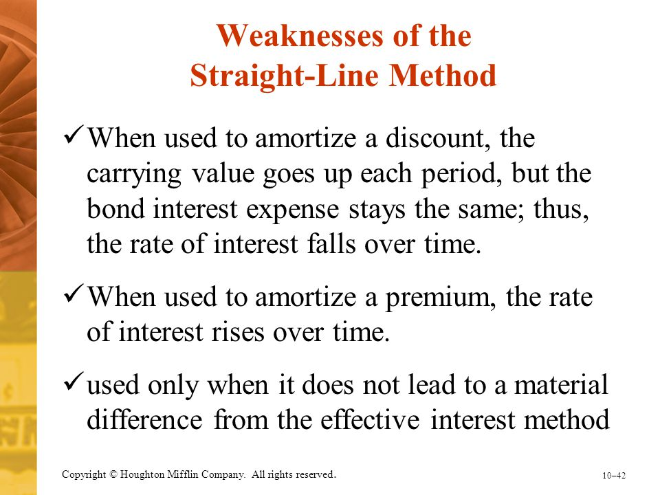 Weaknesses of the Straight-Line Method