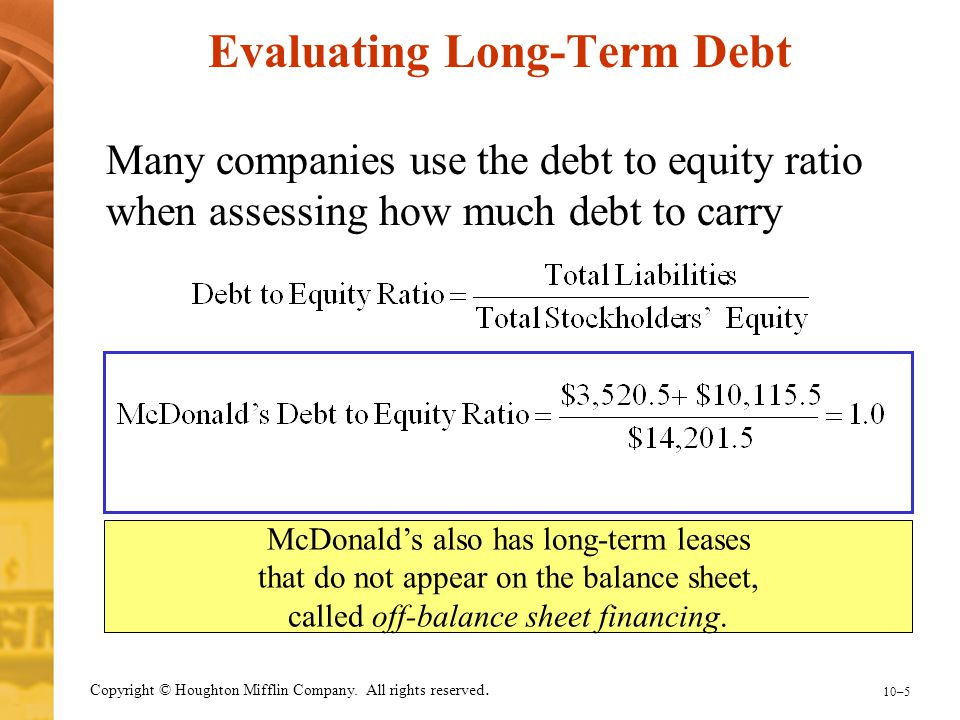 Evaluating Long-Term Debt