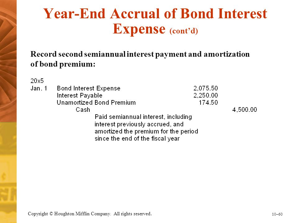 Year-End Accrual of Bond Interest Expense (cont'd)