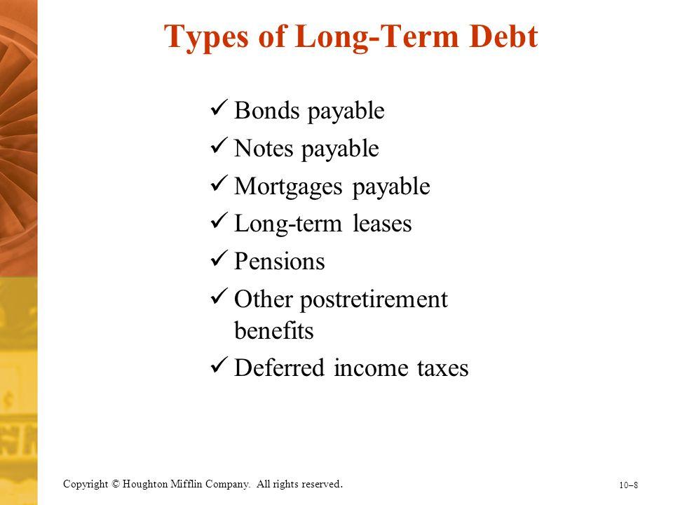 Types of Long-Term Debt