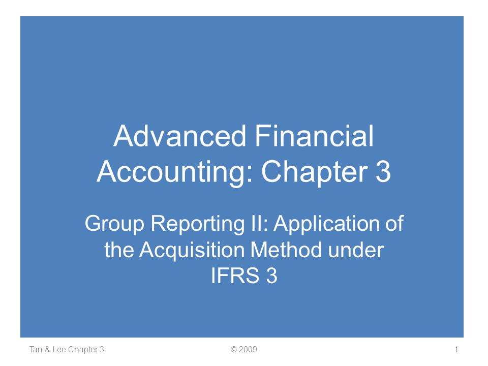 Advanced Financial Accounting: Chapter 3