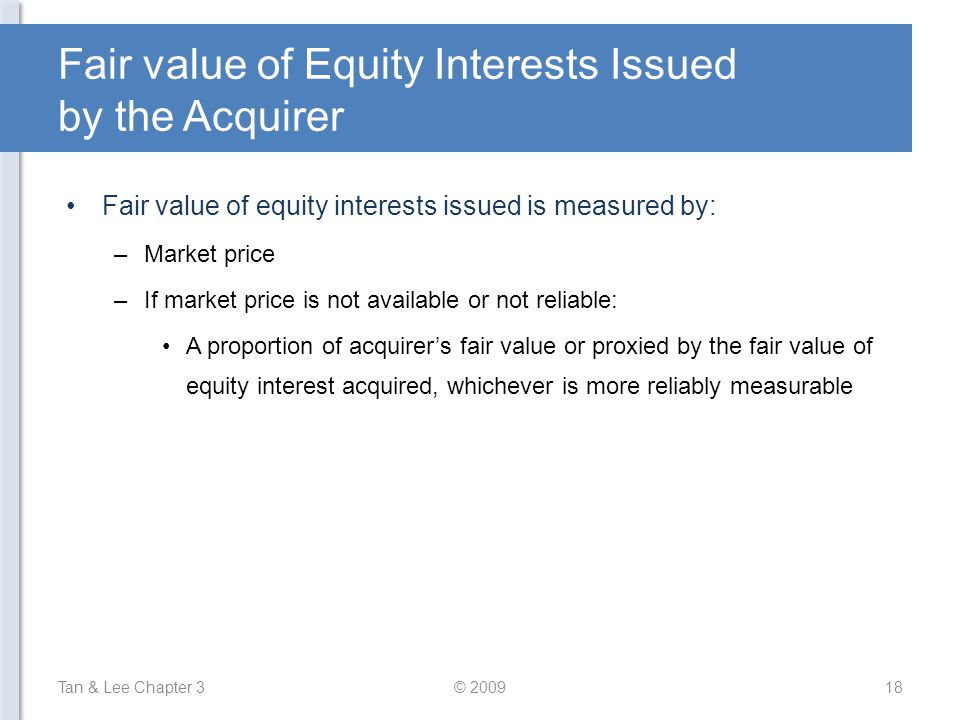 Fair value of Equity Interests Issued by the Acquirer