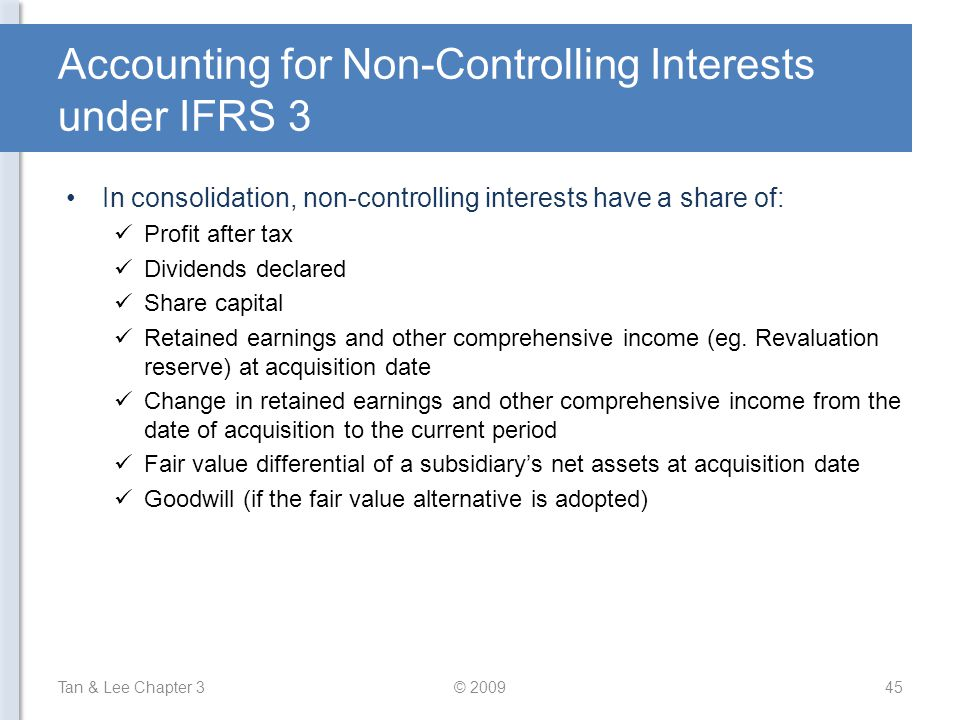 Accounting for Non-Controlling Interests under IFRS 3