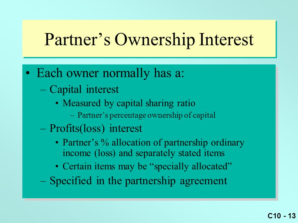 Partner's Ownership Interest