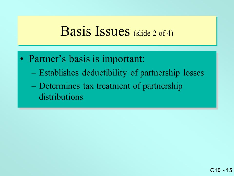 Basis Issues (slide 2 of 4)
