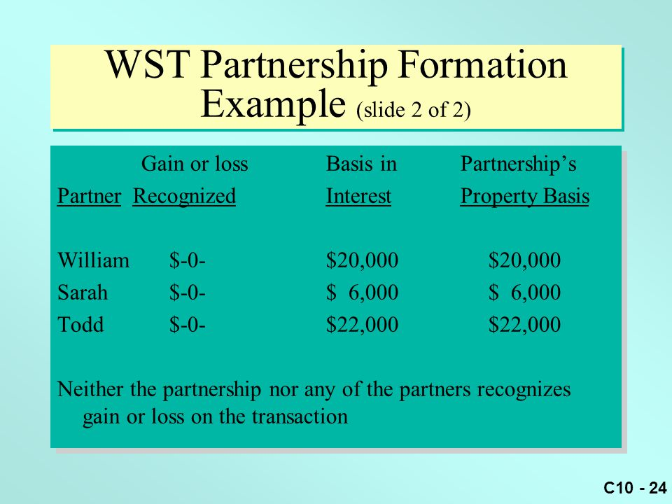 WST Partnership Formation Example (slide 2 of 2)