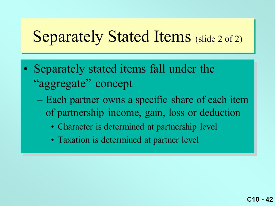 Separately Stated Items (slide 2 of 2)