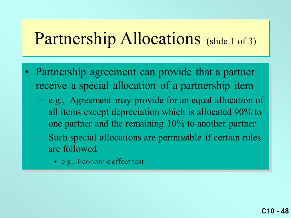 Partnership Allocations (slide 1 of 3)