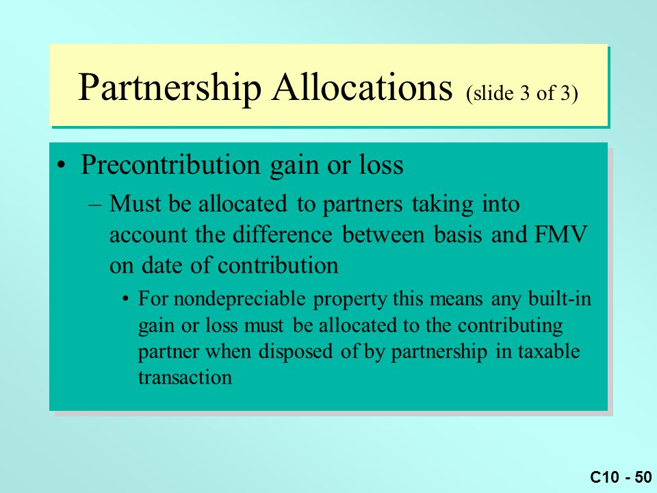 Partnership Allocations (slide 3 of 3)