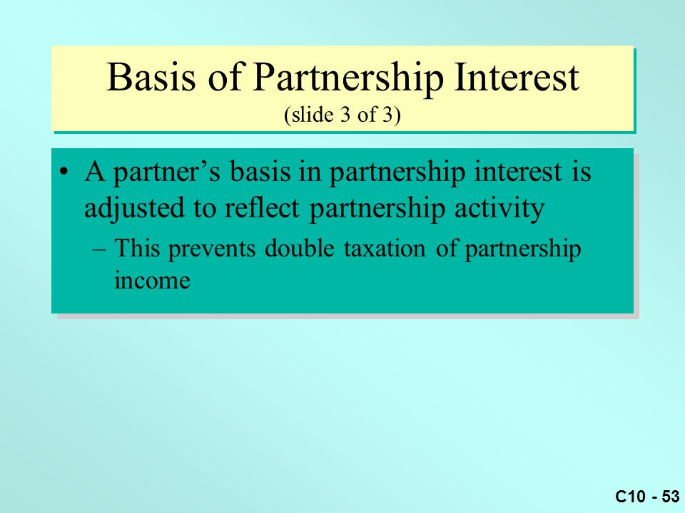 Basis of Partnership Interest (slide 3 of 3)
