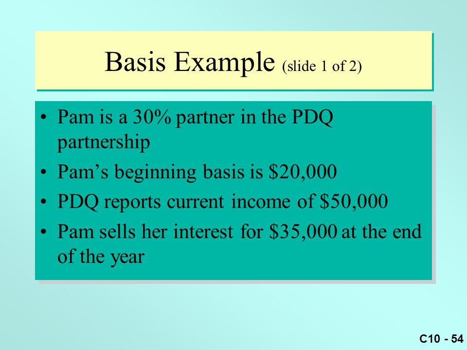 Basis Example (slide 1 of 2)