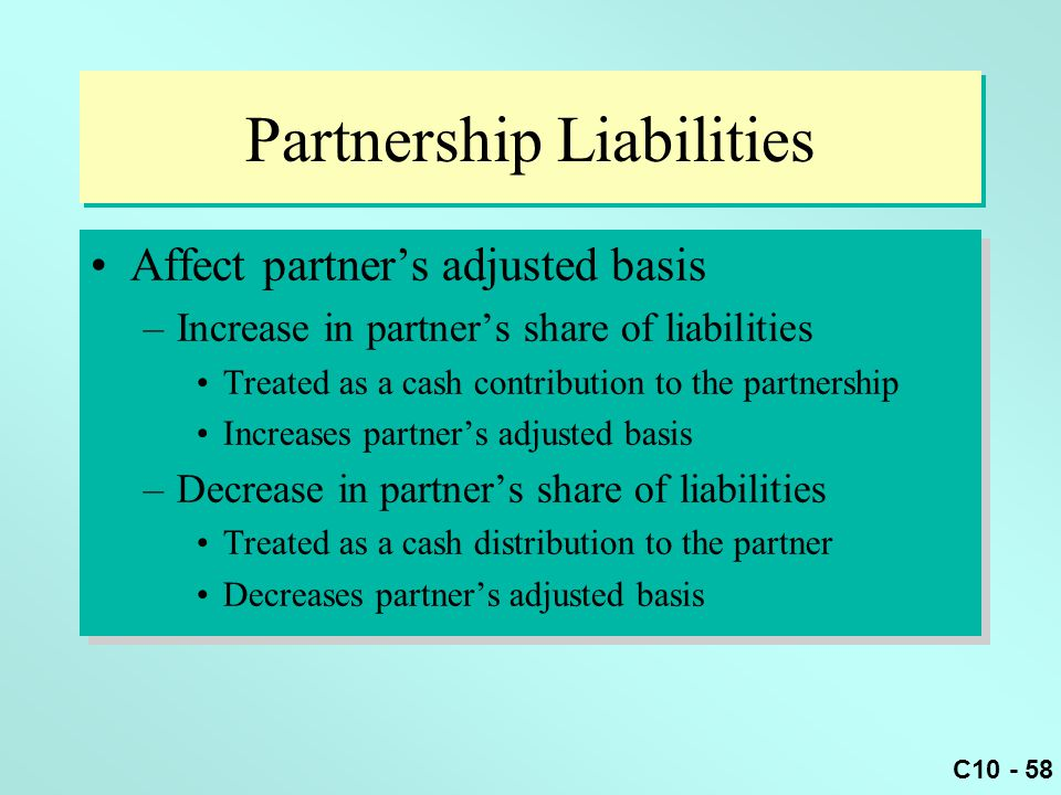 Partnership Liabilities