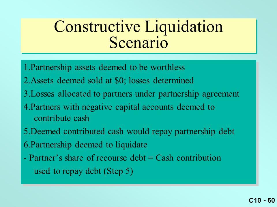 Constructive Liquidation Scenario