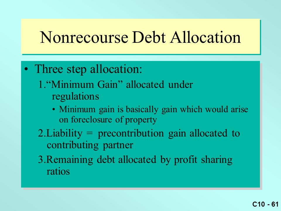 Nonrecourse Debt Allocation