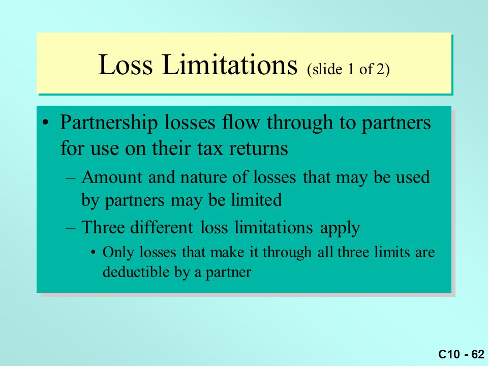 Loss Limitations (slide 1 of 2)