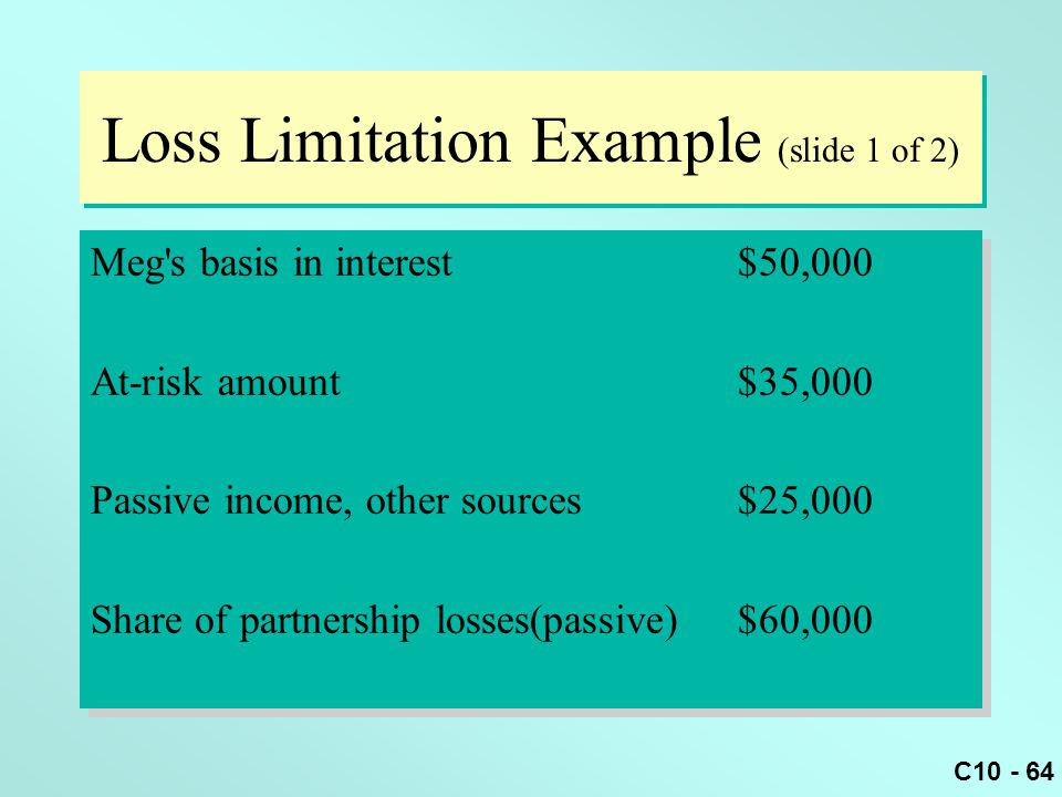 Loss Limitation Example (slide 1 of 2)