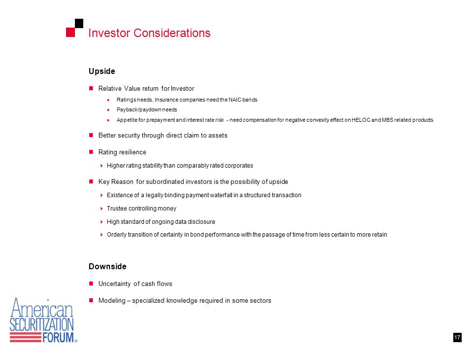 Investor Considerations