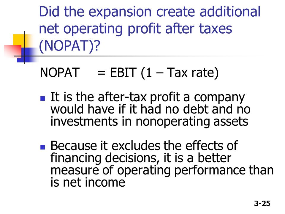 Did the expansion create additional net operating profit after taxes (NOPAT)