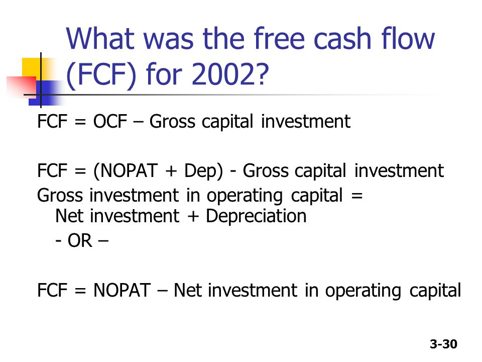 What was the free cash flow (FCF) for 2002