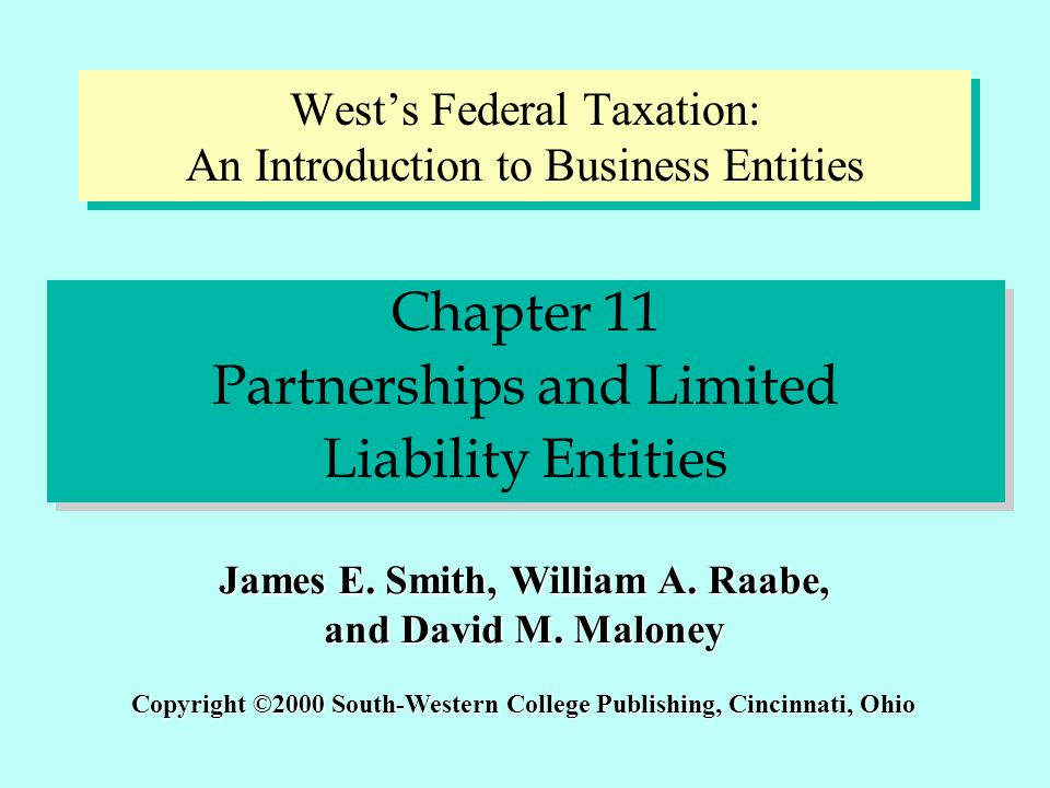 West's Federal Taxation: An Introduction to Business Entities