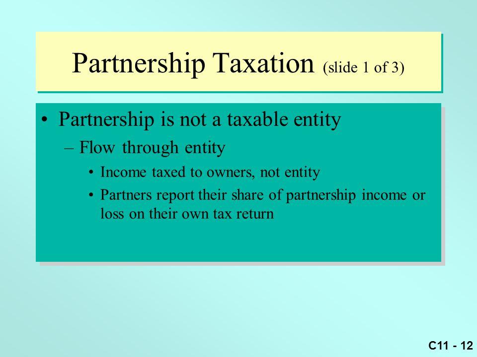 Partnership Taxation (slide 1 of 3)