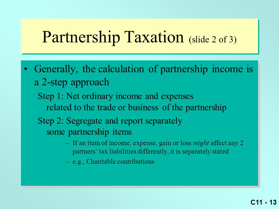 Partnership Taxation (slide 2 of 3)