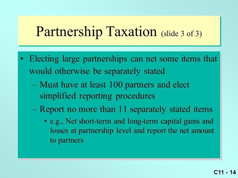 Partnership Taxation (slide 3 of 3)