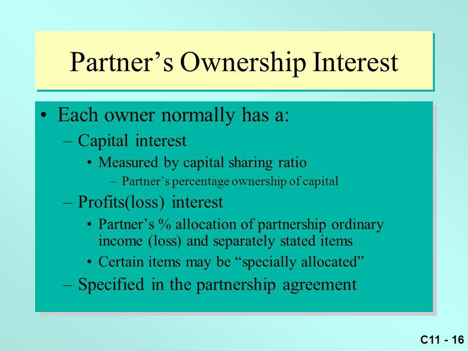 Partner's Ownership Interest